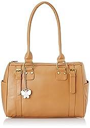 Butterflies Women's Handbag (Beige) (BNS 0259 BG)