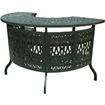 Hot Sale Heritage Outdoor Living Elisabeth Cast Aluminum Party Bar Table - Antique Bronze