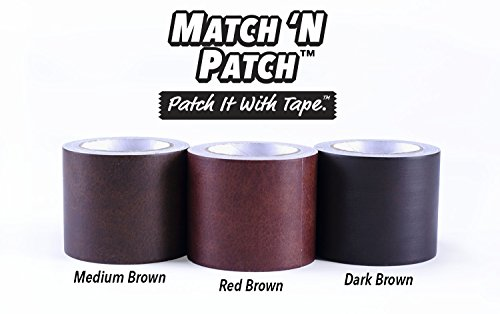 Match N Patch Realistic Dark Brown Leather Tape Home