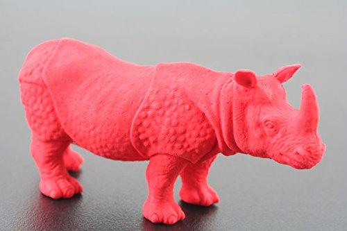 Image of Kikkerland Endangered Species Rhino Eraser, Red (ER08)
