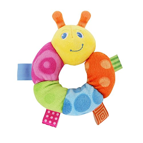 "Mary Meyer Taggies 5"" Colors Rattle, Cutsie Caterpillar"