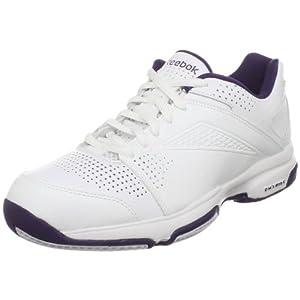 Reebok Passing Shot , chaussures course à pied femme - Blanc/Poupre/Argent, 42 EU