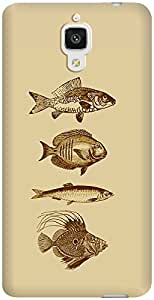 DailyObjects Fish Antiqued Case For Xiaomi Mi4