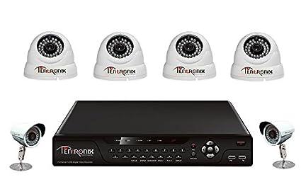 Tentronix T-8CH-6-D4B29 8Channel DVR + 4(900TVL) Dome + 2 (900TVL) Bullet CCTV Cameras
