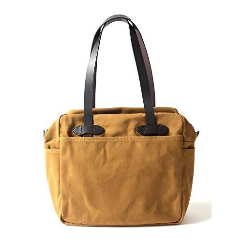 (フィルソン)FILSON TWILL ZIP TOP TOTE BAG/22オンス ラゲージツイル トートバッグ・8084661035(one)(brown(col.4-0300))