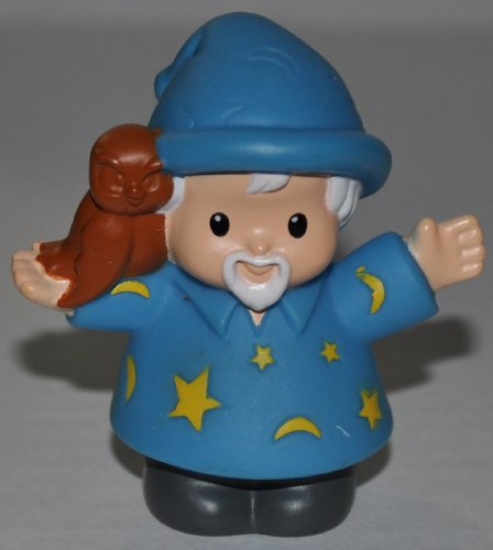 Little People McDonalds Wizard Magician (2005) McD Limited Edition (Dumbledore Style) - Replacement Figure Accessory - Classic Fisher Price Collectible Figures - Loose Out Of Package & Print (OOP) - Zoo Circus Ark Pet Castle - 1