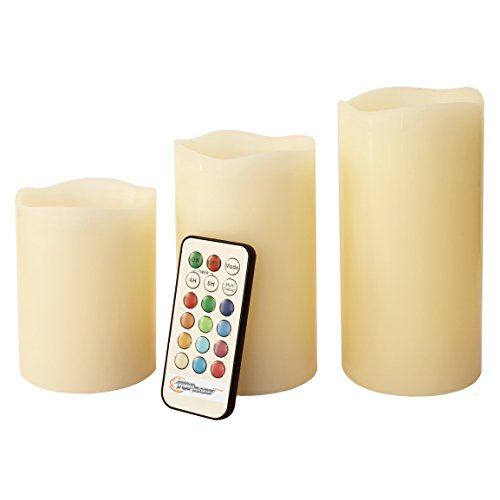 Top Race® Led Real Wax Candle Lights With Remote Control & Timer, 3 Piece Set