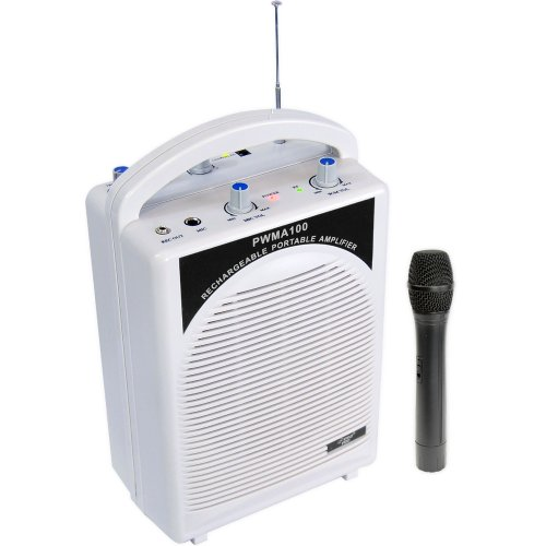 Pyle-Pro PWMA100 Rechargeable Portable PA System with Wireless MIC