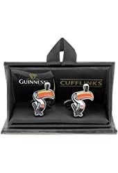 Official Guinness Collection Toucan Cufflinks, Silver Colour
