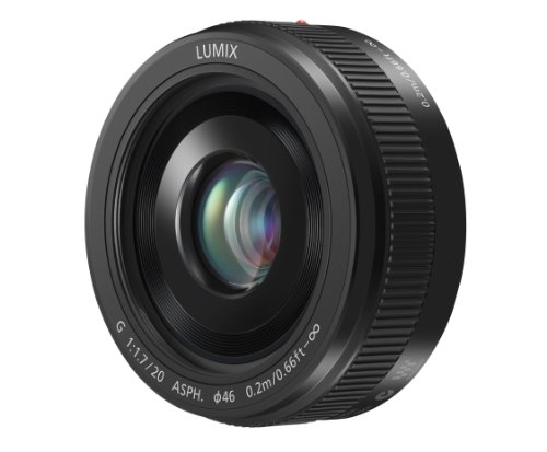 Panasonic Lumix G H-H020AK 20mm F/1.7 II ASPH Fixed Lens for Panasonic/Olympus Micro Four Thirds Cameras (Black)