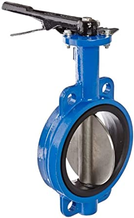 Dixon Ductile Iron Wafer Style Butterfly Valve with Stainless Steel Disc and Buna-N liner