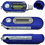Goliton® 16GB WMA USB MP3 musique jouer FM radio et enregistrement du son avec LCD écran-Bleu