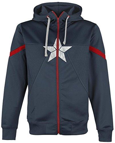 Captain America Civil War - Star Logo Felpa jogging blu scuro XXL