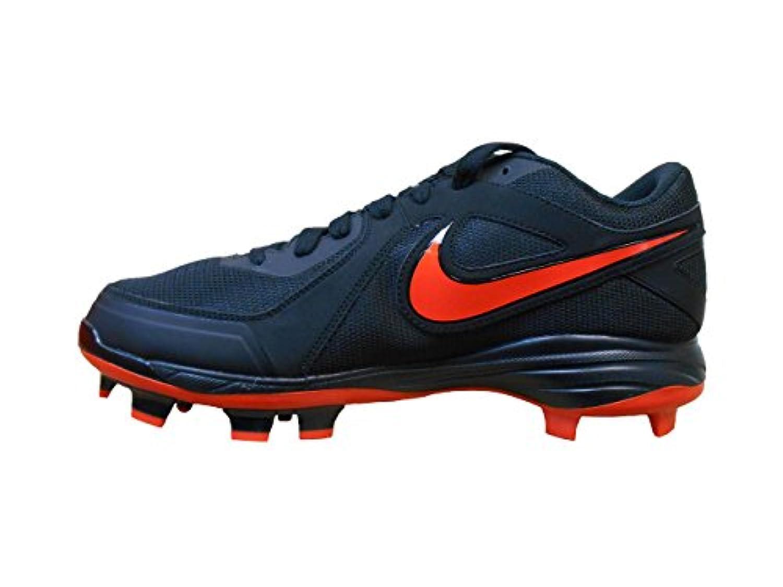 Nike Men's Air MVP Pro MCS Baseball Shoe (9, Black/Game Orange)