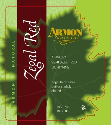 Nv Armon Zegal Red New York Red Table Wine 750 Ml
