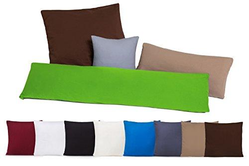 Pacco doppio Copricuscini Copricuscino Federe con chiusura a zip in 100% cotone - 10 colori e 4 grandezze sabbia / cappucino 40 x 40 cm