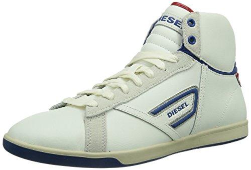 Diesel EASTCOP GRANTOR, Sneaker alta Uomo, Bianco (Weiß (T1003)), 43