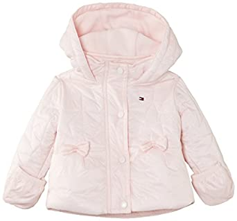 Tommy Hilfiger Baby Girls Stars Long Sleeve Starred Coat, Pink (Barely Pink/Peacoat), 6-12 Months (Manufacturer Size:74)