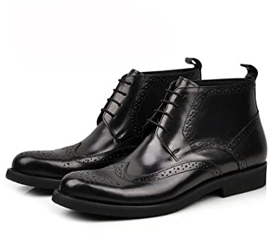 Juniorpanter England Style Men's Shoes, Men's Boot, Leather Boot, Leather Business Shoes 16820 (6, Black)
