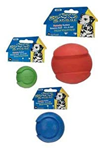 JW Pet Company iSqueak Bouncin' Baseball Dog Toy, Large, Colors Vary
