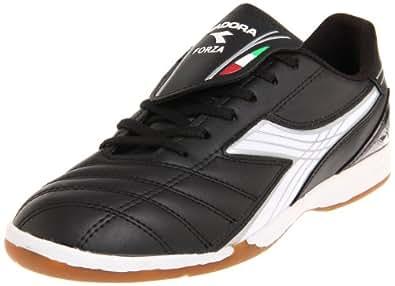 Diadora Men's Forza ID Soccer Shoe,Black/White/Silver,6.5 M US