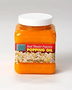 Wabash Valley Farms Real Theater Popcorn Popping Oil, 16-Ounce Jar