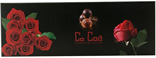 CoCoa Confection Roses Chocolate Gift Box 5-Ounce