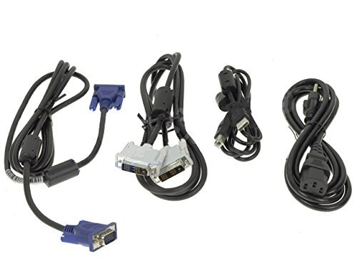 - Dell Desktop Monitor Cable Kit - USB, DVI, VGA, Power Cables - V722