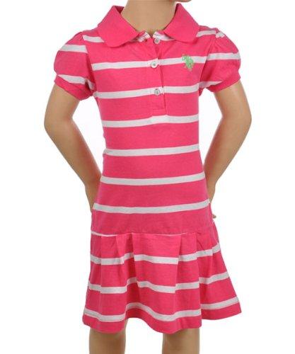 U.S. Polo Assn. Girls 2-6X Striped Polo Dress