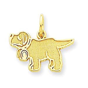 14k Saint Bernard Charm