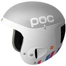 POC Skull Comp 2.0 Julia Helmet (Silver/White, Medium - Large/55-58)