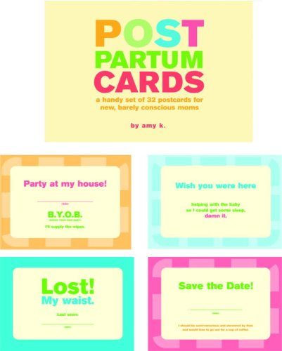 Post Partum Cards: A Handy Set of Postcards for New, Barely Conscious Moms (Potter Style)