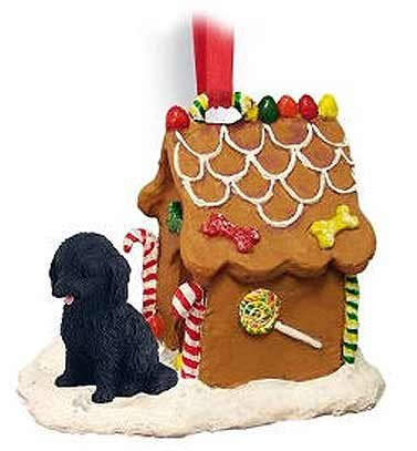 Cockapoo Gingerbread House Christmas Ornament Black - DELIGHTFUL!