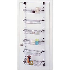 Organize It All Basic Overdoor 6-Basket Unit (17726W)