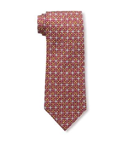 Hermès Men's Patterned Silk Tie, Red
