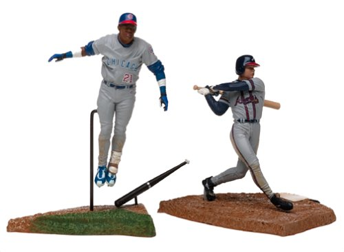 McFarlane Toys MLB 3 Inch Sports Picks Series 1 Mini Figure 2-Pack Chipper Jones & Sammy SosaSosa - 1