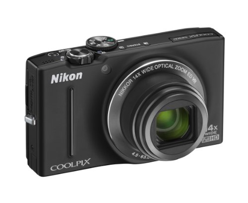 Nikon Coolpix S8200 Digital Camera - Black (16.1MP,