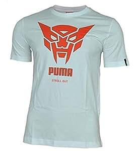 Puma Men's T-Shirt XXL blanc cassé - Blanc