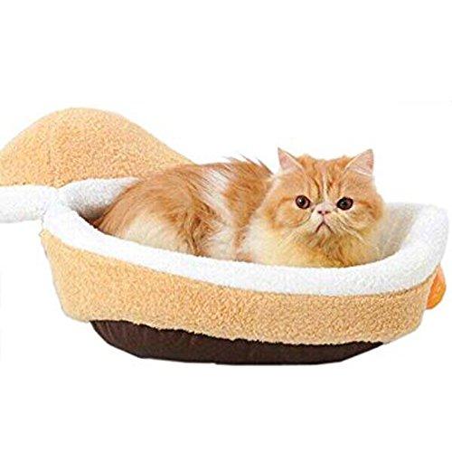 Hrph-Los-perros-pequeos-gatos-saco-de-dormir-de-la-jerarqua-a-prueba-de-viento-caliente-suave-Hamburgo-Forma-cama-del-gato-Productos-para-mascotas