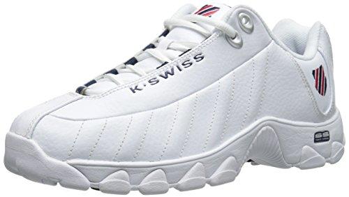 K-Swiss Men's ST329 CMF Training Shoe, White/Navy/Red, 9.5 M US