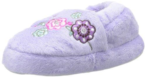 Stride Rite Little Girls' Lighted Sweet Floral Slipper, Purple, 7-8 front-747971