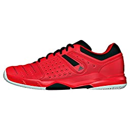 adidas Performance Men\'s Court Stabil 12 Volleyball Shoe, Vivid Red/Black/White, 10.5 M US