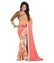 My online Shoppy Georgette Saree (My online Shoppy_27_Multi-Coloured)