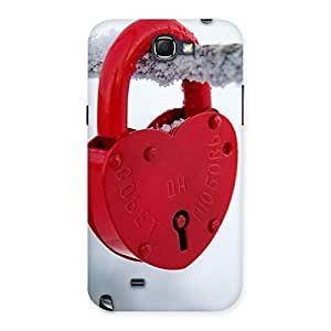 Delighted Red Lock Multicolor Back Case Cover for Galaxy Note 2