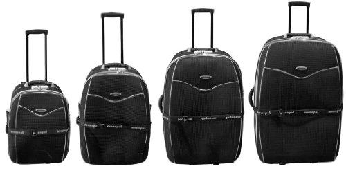 Nylon Kofferset 4tlg Bali in schwarz