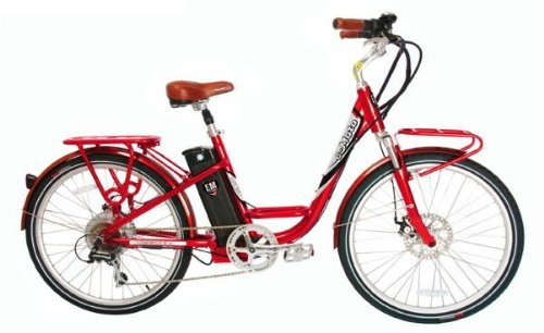 e-Moto Malibu Low Step Electric Bicycle - Red