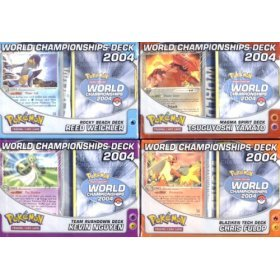Pokemon EX 2004 World Championship Decks Set of 4 - Buy Pokemon EX 2004 World Championship Decks Set of 4 - Purchase Pokemon EX 2004 World Championship Decks Set of 4 (Pokemon, Toys & Games,Categories,Games,Card Games,Collectible Trading Card Games)