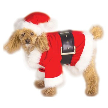 Velour Santa Pet Costume
