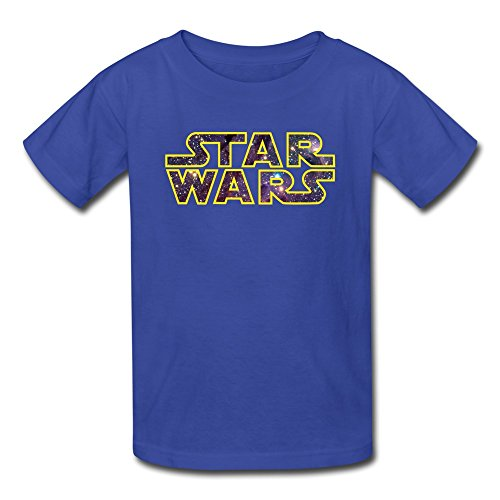 AOPO Star Wars LOGO Tee Shirts For Kids Unisex Large RoyalBlue (Han Solo Costume Diy)