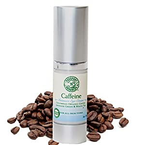 Caffeine Eye Cream - Organic Colombian Coffee -- Reduce puffiness, dark circles and moisturize - Paraben Free - .5oz
